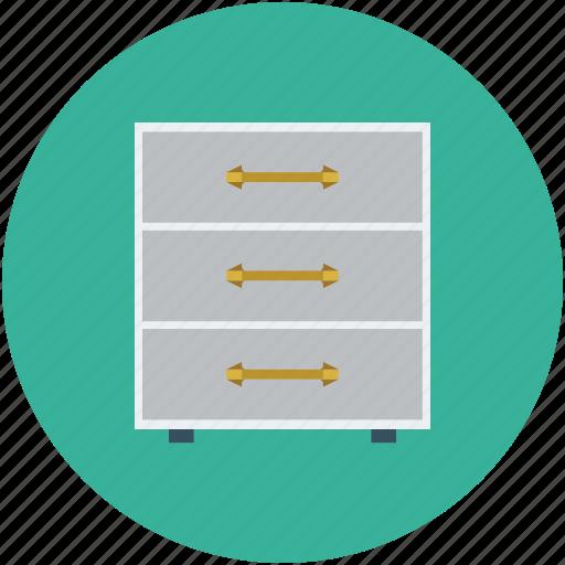 cabinet, draws, filing cabinet, furniture, storage icon