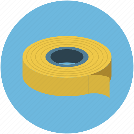 attach tape, joint tape, pressure-sensitive tape, tape, tape ruler, wrapping tape icon