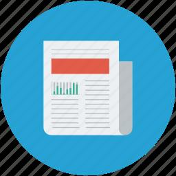 media, news, newsletter, newspaper, paper, press icon