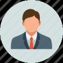 accountant, avatar, man, officer, user