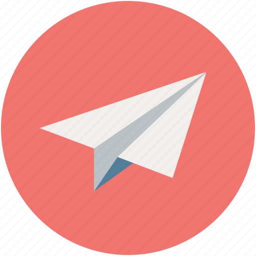 paper aeroplane, paper dart, paper plane, plane icon