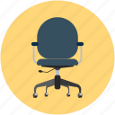 armchair, chair, move chair, office chair, swivel, swivel chair icon