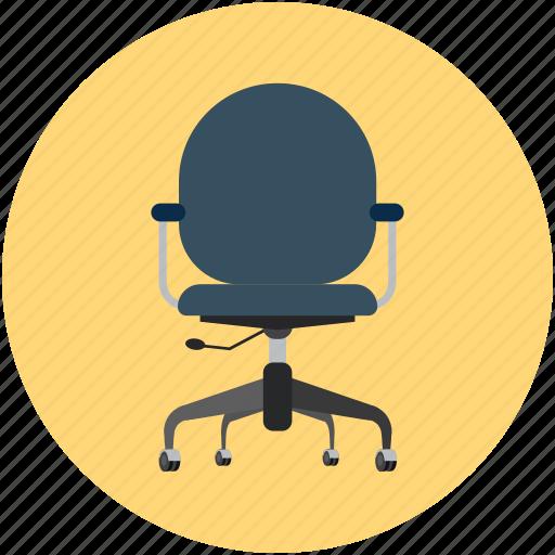 armchair, chair, move chair, office chair, swivel, swivel chair icon
