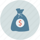 cash, dollar bag, dollar sign, earning, money, pay, payment, sack
