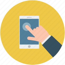 cell phone, mobile swiping, pointing, smartphone, swiping, using smartphone icon