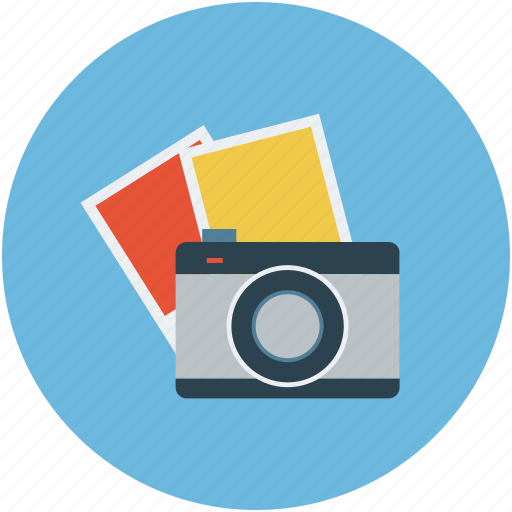 camera with images, gallery, images, media, photo, snaps icon