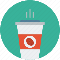 black coffee, coffee bean, coffee cup, disposable coffee cup, hot coffee, hot coffee cup, hot drink icon