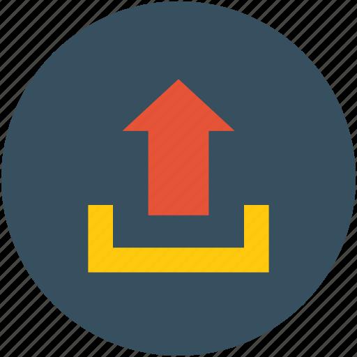 arrow, upload, uploading, upward icon