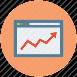 analysis, analytics, chart, graph, ups and downs icon