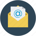 arroba, email, envelope, letter, mail, message icon