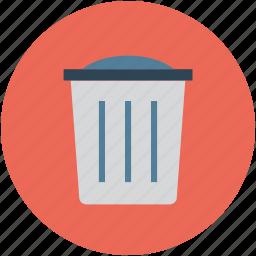 delete, dustbin, remove, trash, trash bin, trash can icon