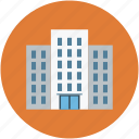 bank building, building, business center, office, trade center icon