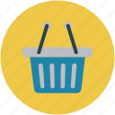 basket, ecommerce basket, shopping basket, store basket, vegetable basket icon