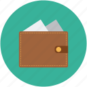 billfold, cash, money, purse, wallet icon
