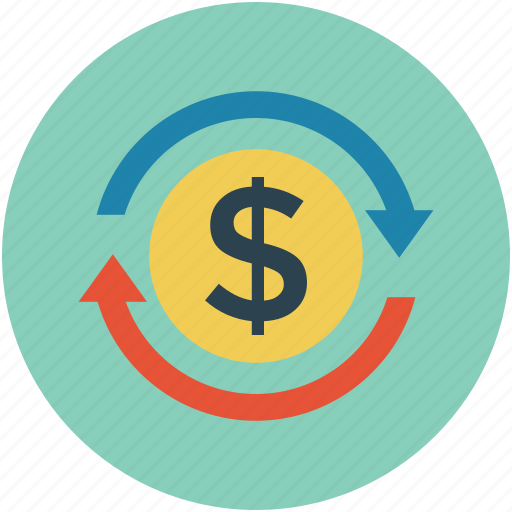 dollar, money, payment, recurrent payments, renew, turnover icon