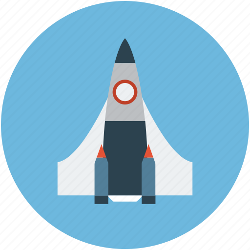 aircraft, missile, rocket, space, spacecraft, spaceship icon