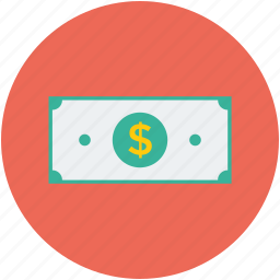 banknote, cash, currency, currency note, dollar, money icon