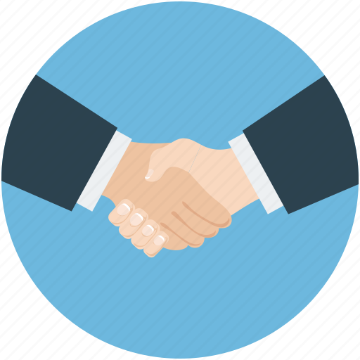 business partner, businessmen, contacts, deal, relationships, shake hand icon