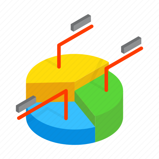 business, chart, diagram, isometric, pie, template, text icon