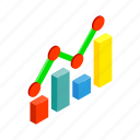 business, chart, financial, forecast, growth, isometric, success