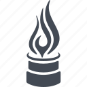 fire, flame, gas, oil and gas icon