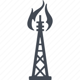 extraction of oil, oil and gas, oil derrick, oil rig icon
