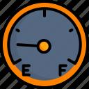 dashboard, fuel, gas, gauge, meter, oil, vehicle icon