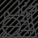 factory, fuel, gasoline, industrial, oil, petroleum, refinery icon