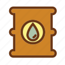 barrel, energy, fire, gas, industry, oil, petrol icon