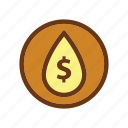 dollar, energy, fire, gas, industry, oil, petrol icon