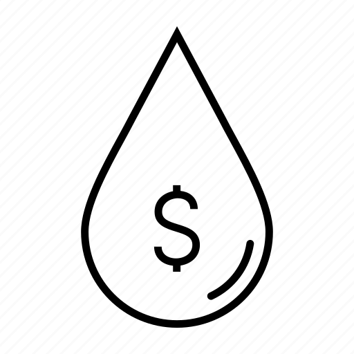 dollar, drop, finance, oil, oil money, petroleum icon