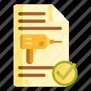 drilling, drilling permit, permit icon