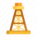 drilling, drilling rig, oil rig, rig icon