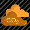 environmental, pollution, air pollution, co2, environmental pollution, carbon dioxide icon