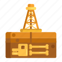 drilling rig, fossil, fossil fuel, fossil fuels, fuels, oil rig icon