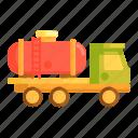 gasoline, gasoline truck, oil truck, petroleum truck, truck, trucker icon