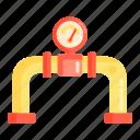 gas, meter, oil, pipeline, pressure icon