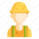 construction, engineer, industry, worker icon