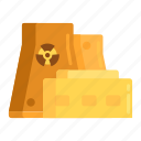 factory, nuclear, nuclear plant, plant, power plant, radioactive, refinery icon