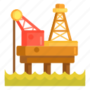 offshore, offshore oil drilling, offshore platform, platform icon