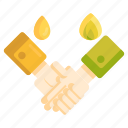 agreement, deal, gas, handshake, oil, oil and gas deal icon