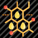 molecule, oil, oil molecule icon