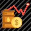 oil, oil price, price icon