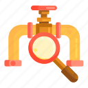 inspection, oil inspection, pipeline icon