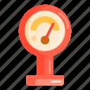 gauge, meter, pressure icon