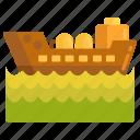 oil, oil tanker, sea, tanker icon