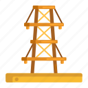 cell tower, electric tower, tower, transmission, transmission tower icon
