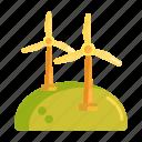 power, wind, wind energy, wind farm, windmill icon