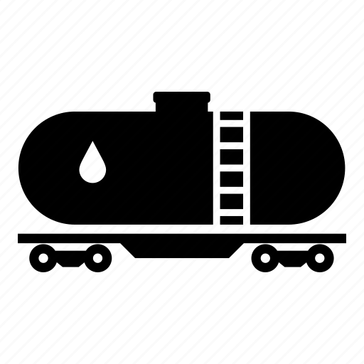 fuel tank, fuel truck, oil, oil delivery, oil tank, train icon