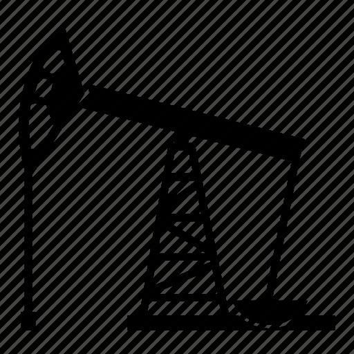 crude oil, fuel, gas, oil pump, pump, pumpjack icon
